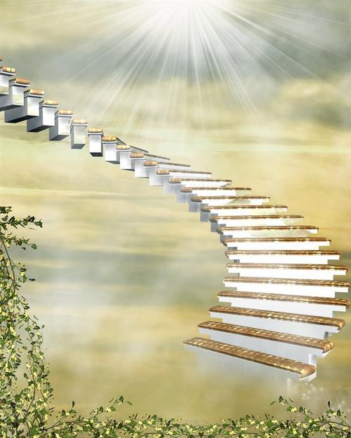 花园天梯背景图片