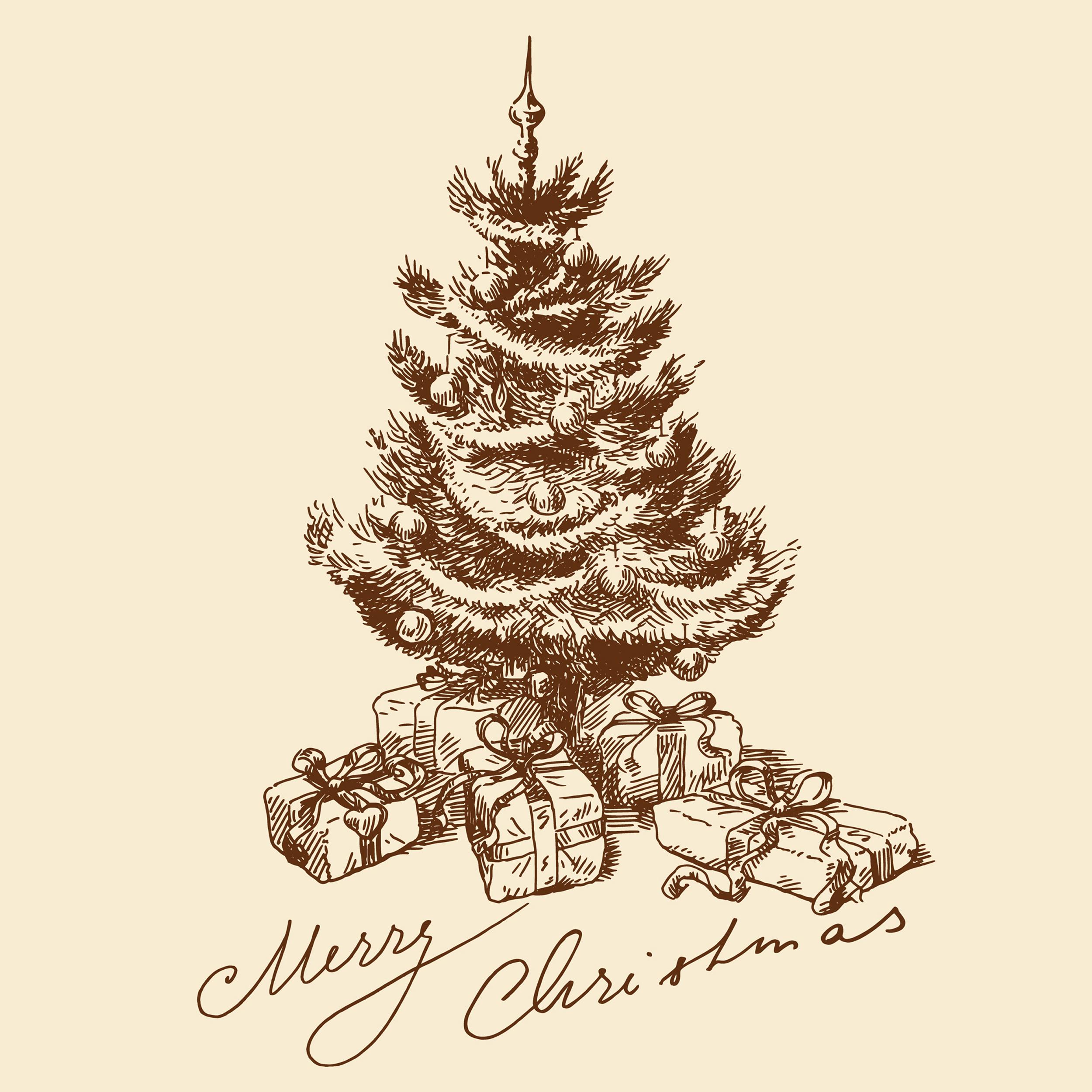 圣诞树元素矢量