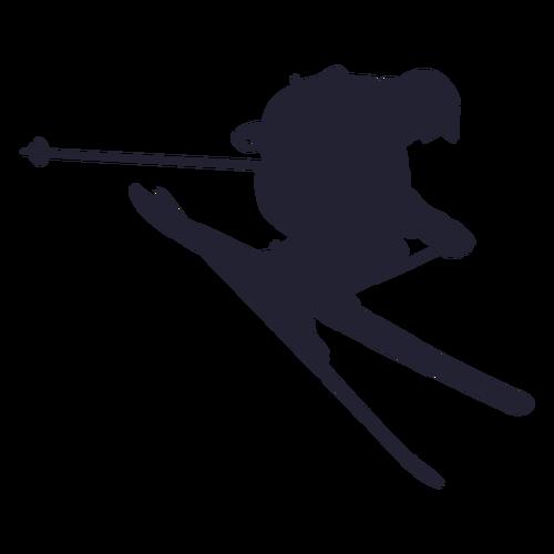 滑雪人物剪影