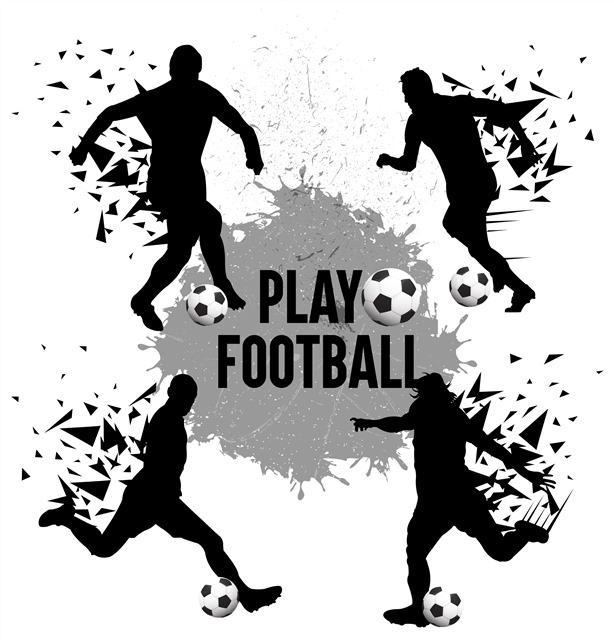 足球运动创意插画