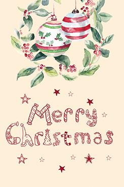 圣诞节插画海报