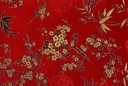红色传统中国风花纹图案