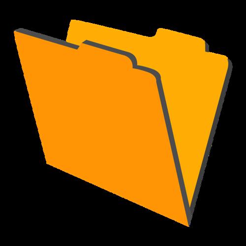 黄色文件夹图标
