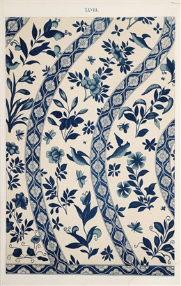 中国风蓝色花纹背景图
