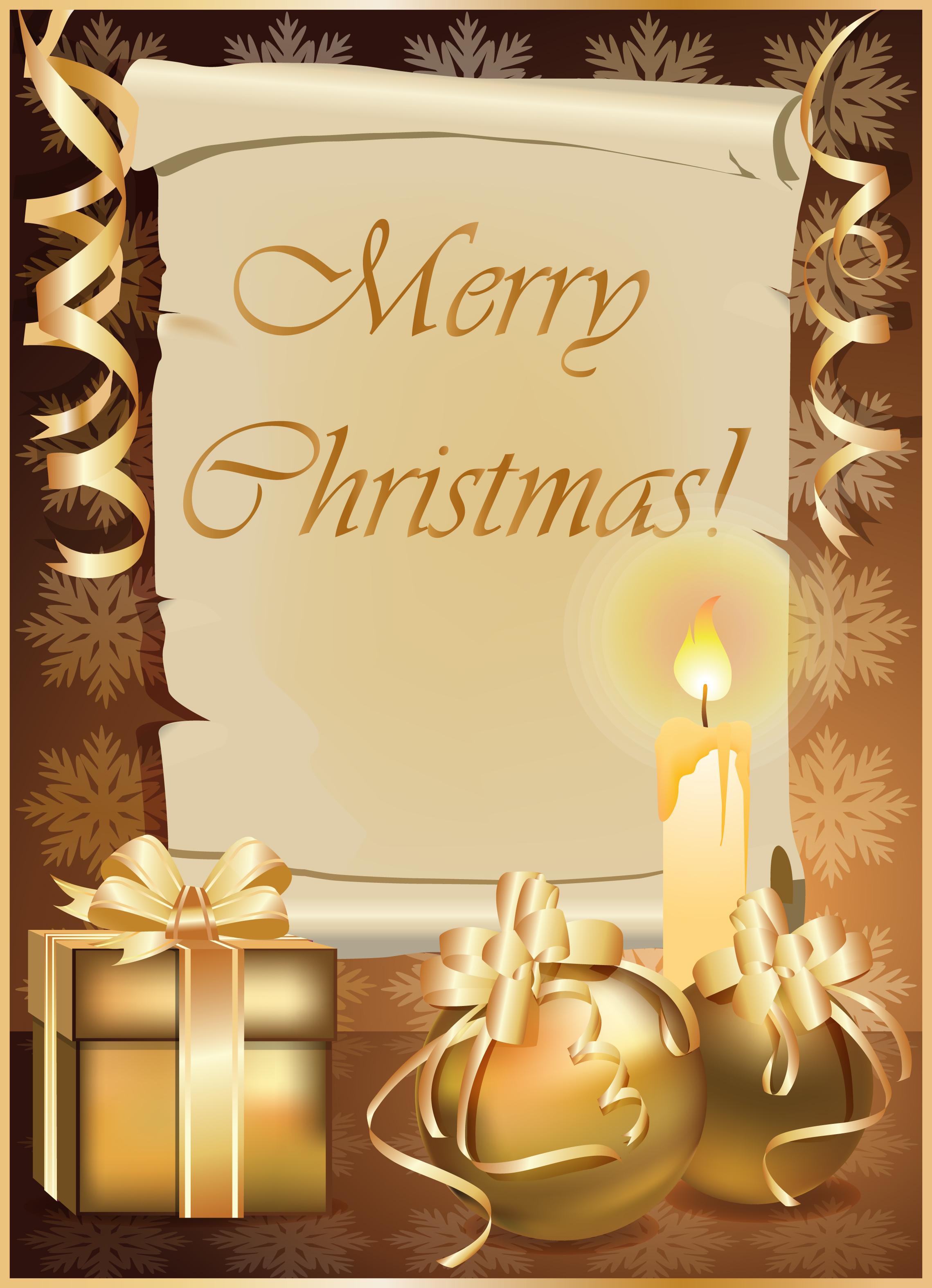 金色圣诞卡片背景图片