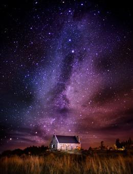唯美夜空星星图片