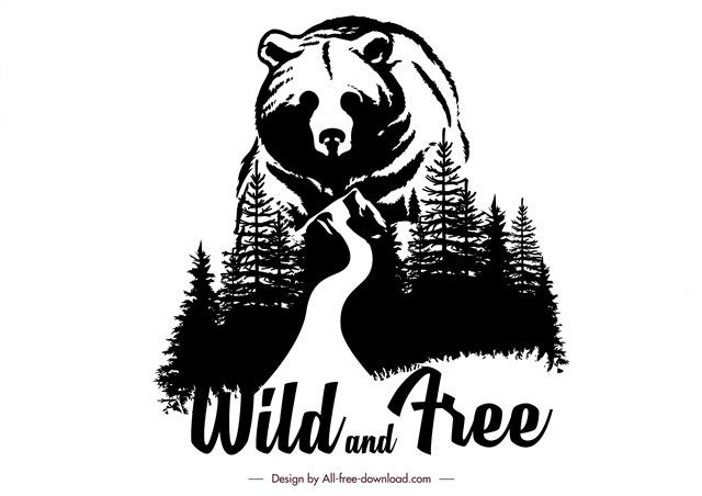 保护野生动物创意插画