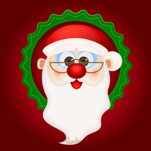 白胡子圣诞老人圣诞节图标