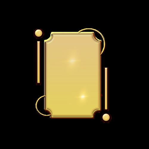 质感金色边框