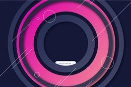 创意圆弧电商背景
