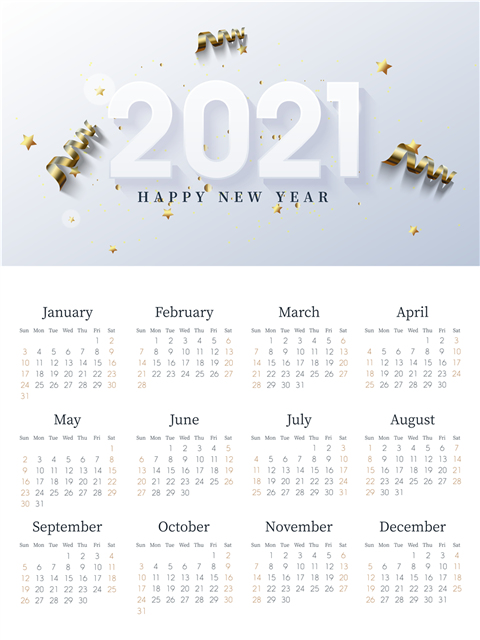2021辛丑年牛年日历挂历图片