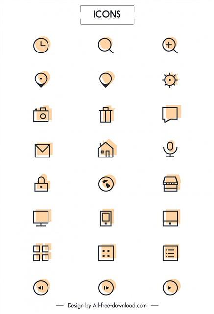 线性商务小图标素材