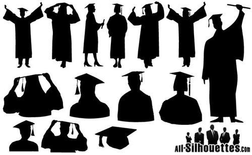 毕业剪影图片