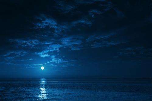 海上明月背景