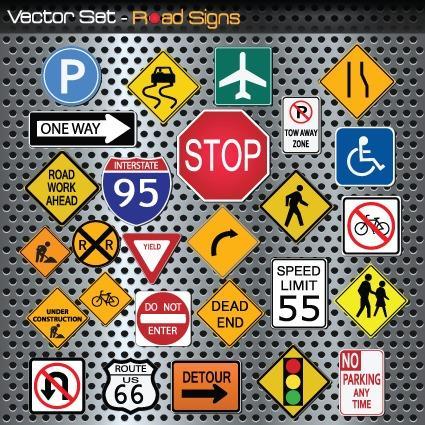 交通路标牌图片