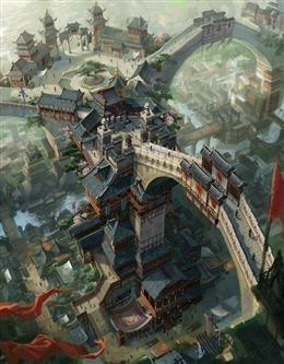 游戏中的古建筑场景