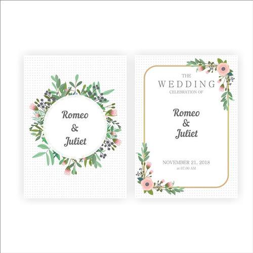 婚礼请柬视觉vi设计