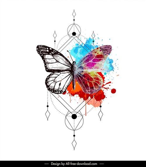 蝴蝶艺术作品图片