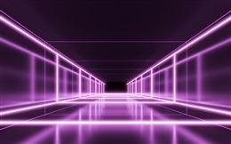 霓虹科技风隧道场景