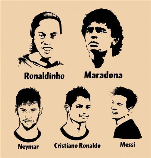 足球男孩剪影头像