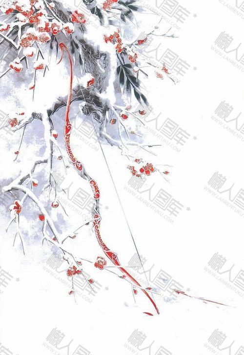 冬日里的梅花背景图