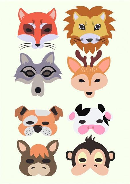 动物头像卡通矢量图标