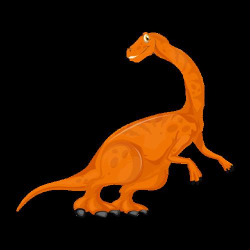 侏罗纪恐龙卡通矢量图