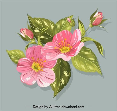 水彩花卉简笔画