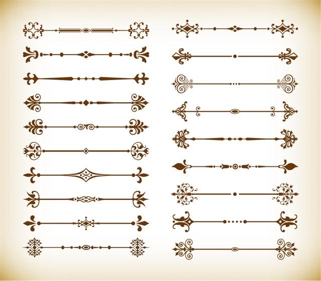 欧式分割线边框素材