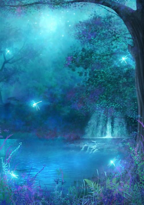 梦幻唯美自然风背景图