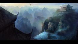 仙侠建筑场景图片