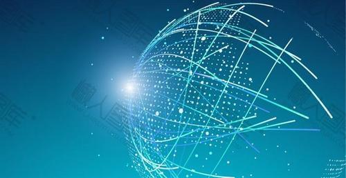 科技线条互联网背景图片