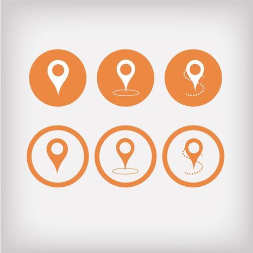 GPS导航定位图标