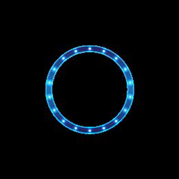 蓝色科技感光圈边框元素