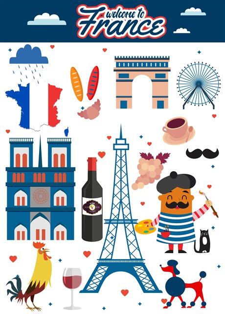 法国多元素标志合集