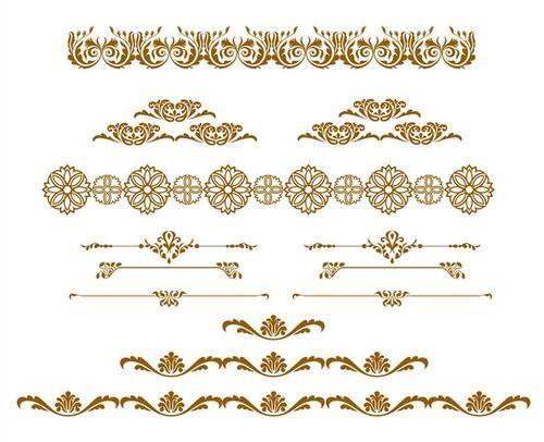 金色复古中式花纹边框图片