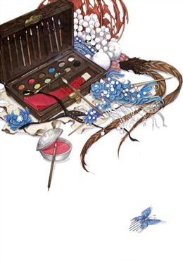 古风首饰胭脂图片