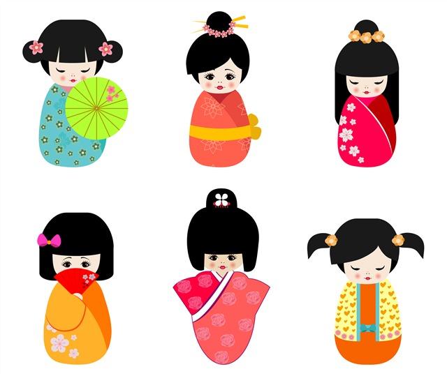 日本人偶娃娃卡通图片