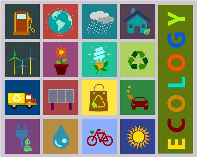 生态学环保向量图标