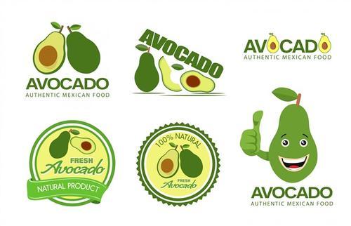 卡通牛油果logo图标