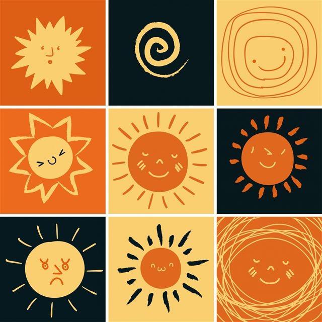 可爱太阳矢量图标