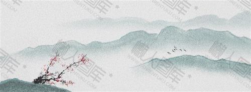 古风山水水墨背景图片