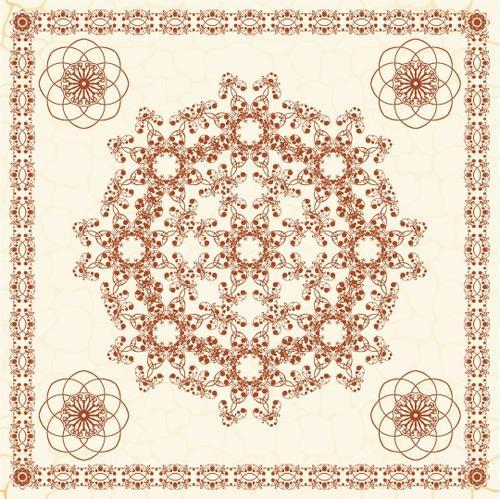 欧式花纹剪纸图案图片