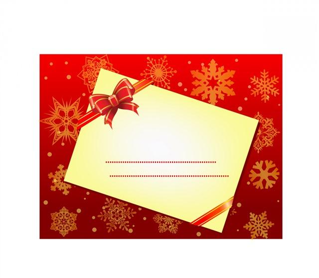 圣诞节红色雪花卡片背景图片