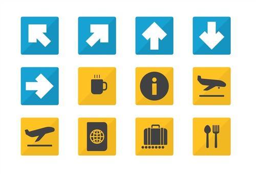 交通箭头指示标图片