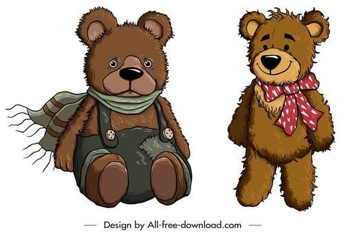 可爱泰迪熊卡通图片