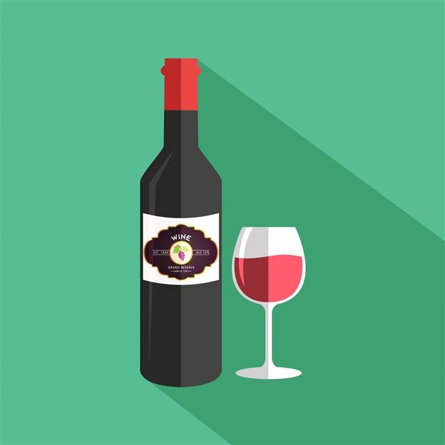 葡萄酒矢量插图