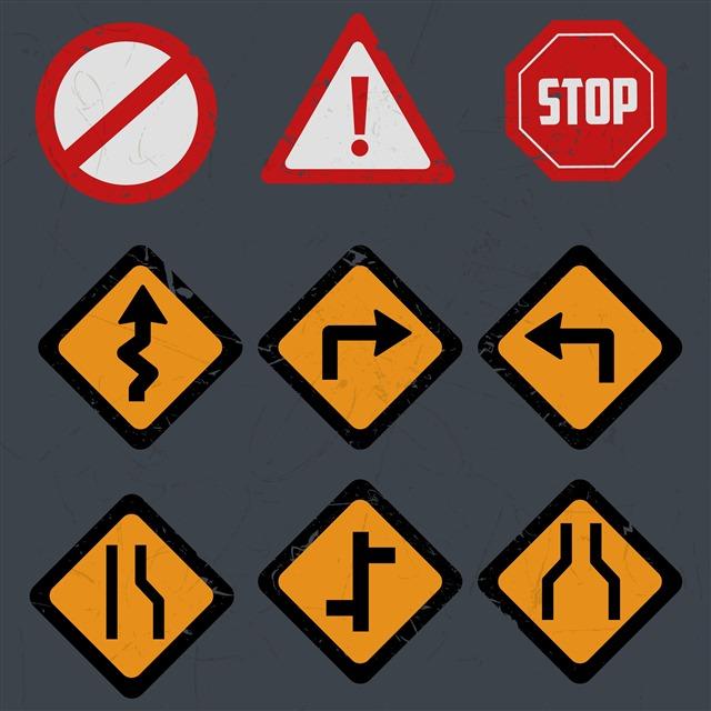 道路指示牌图片