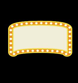 黄色霓虹灯边框素材