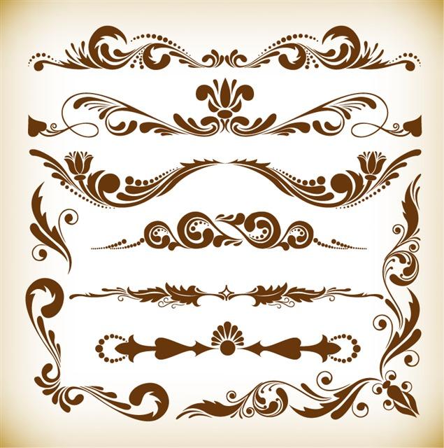 精致复古欧式花纹边框图片